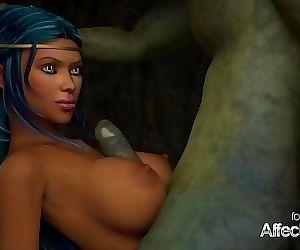 Busty 3d animation Elves..