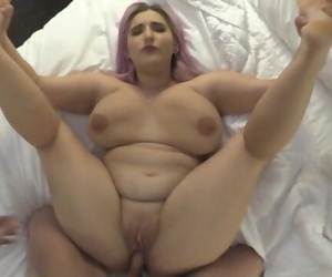 Tricking BBW Big Tit 18 Year old..