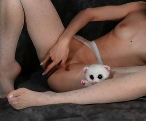 Kira Loster in White Stockings..