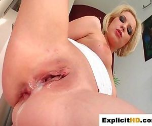 Blondes holes penetrated and cum..
