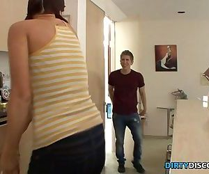 Teen spanked and..