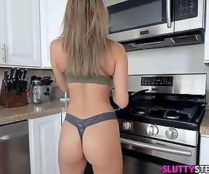 Hot Blonde Step-Sister Fucked in..