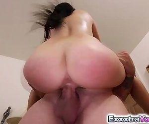 Sexy babe Megan Rain fucked by..
