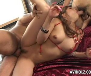 Asian slut Kana Kawai double..