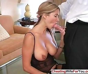Busty MILF loves to swallow - 7 min