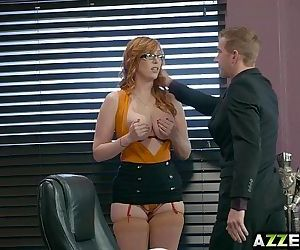Sexy redhead Lauren Phillips gets..