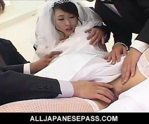 Kinky Japanese bride is the gift..