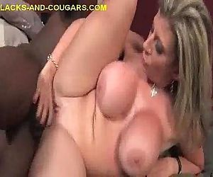 blonde Cougar Impaled on Black..