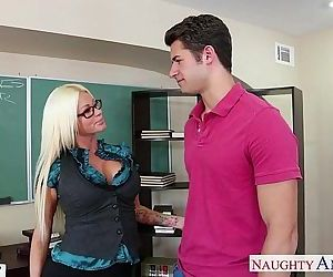 Sex teacher Nikita Von James fuck..