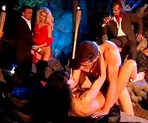 Outdoor night orgy with the..