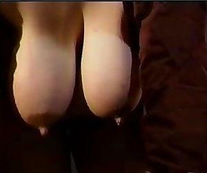 Moms huge lactating boobs need..
