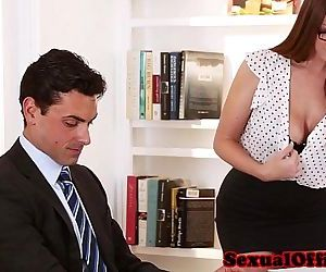 Busty secretary getting fucked on..