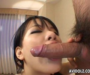 Sitting on a cock and she gets to..