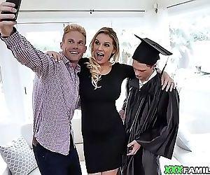 Blonde Busty Mom Fucks Her..