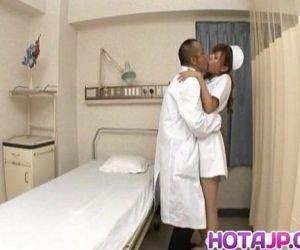 Aya hot nurse takes uniform off..
