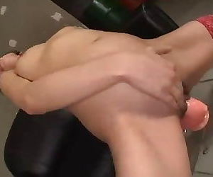 Japanese Girl ride Dildo 13