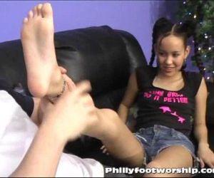 Asian Girl Foot Worship at..