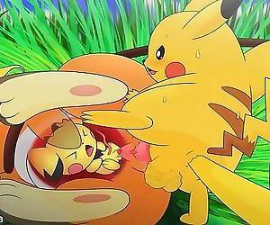 Pichu ,pikachu and Raichu..