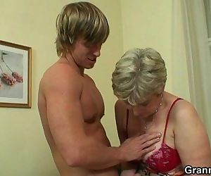 Old housewife gets nailed by an..