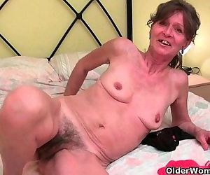 Hairy granny gets..