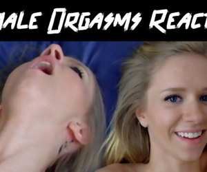 GIRL REACTS TO FEMALE ORGASMS -..