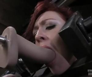 Redhead Locked Up, Made to Suck..