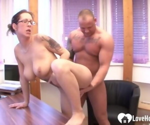 Busty babe sucked his cock and..