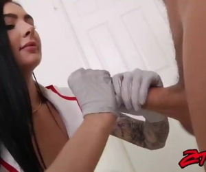 nurse with gloves blowjob