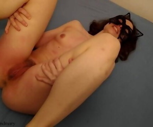 long pussy spanking with belt,..