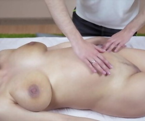 A Pregnant Girl Pickup a Massage..