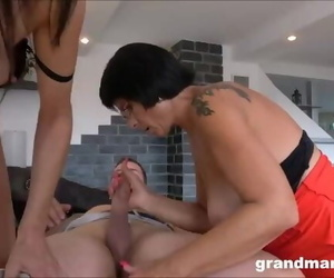 Hot MILF and old Granny Share 1..