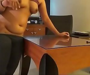 Horny Indian Reception Lady Good Fucking In Table 9 min