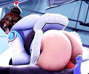 Overwatch - Mei butt fucking ! HD