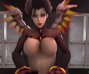 Overwatch Devil Mercy Riding
