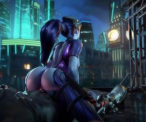 Overwatch - Widowmaker rides Reaper