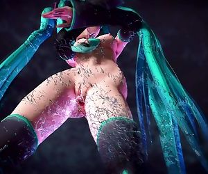 MMD Mikus body dripping wet pussy sexy dance