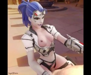 Overwatch - Talon Widowmaker rides huge cock