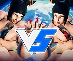 Bodybuilder Juri - Street Fighter 3d porn