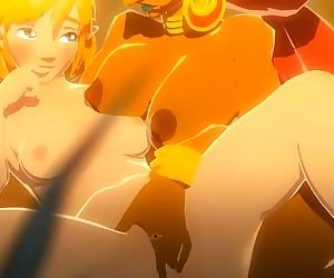 BOTW: Young Zelda get fucked by Urbosa