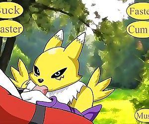 Digimon: Renamon Gives Guilmon A Blowjob 6 min HD