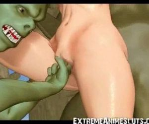 Ogres Tickle a 3D Teen! - 3 min