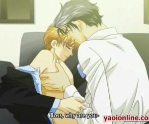 Two hentai guys touching and kissing on sofa - 6 min