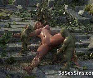 3D Elven Princess Gangbanged! - 3 min