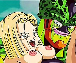 DBZ- Android 18 and Cell Porn - 2 min