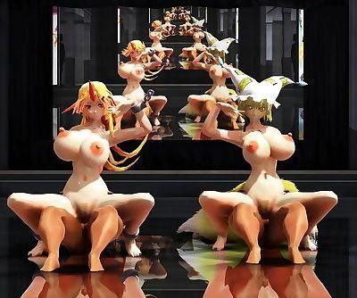3D MMD Ran & Yuugi - Lamb