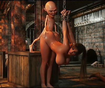 Savage Monster 3D Sex - Perils Of Lara Croft: Part 5
