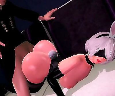 EXGA Nier: Automata 9S Fucks Bunny 2B 4 min HD