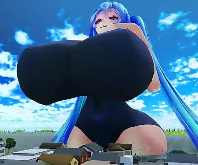giantess miku growth
