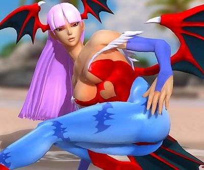 Dead or Alive 5 1.09BH - Morrigan Stretch on the Beach