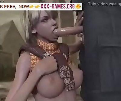 Sweet blowjob in porn game! 2 min